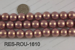 Resin round satin 16mm orange RES-ROU-1610