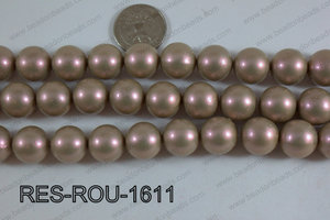 Resin Round Satin Finish Beige 16mm RES-ROU-1611