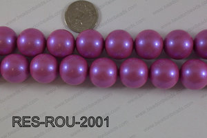 Resin round satin 20mm hot pink RES-ROU-2001
