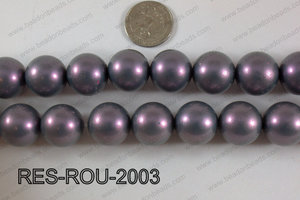 Resin round satin 20mm purple RES-ROU-2003