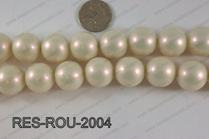 Resin round satin 20mm cream RES-ROU-2004