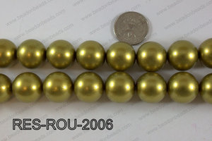 Resin round satin 20mm gold RES-ROU-2006