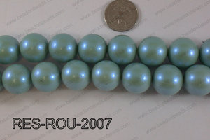 Resin round satin 20mm turquoise RES-ROU-2007