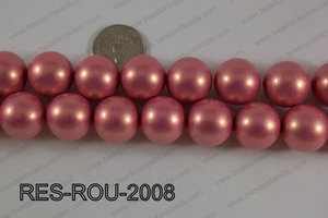 Resin round satin 20mm red RES-ROU-2008