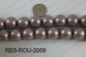 Resin round satin 20mm grey RES-ROU-2009