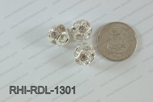 Rhinestone ball Rondelle 13mm Light silver RHI-RDL-1301