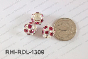 Rhinestone ball Rondelle 13mm purple RHI-RDL-1309