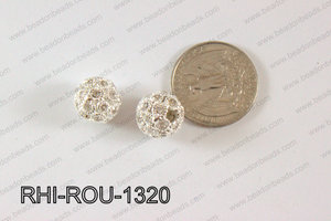 Rhinestone Balls Round 13mm Light silver RHI-ROU-1320