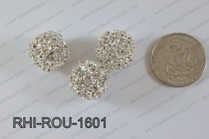 Rhinestone ball Round 16mm Light silver RHI-ROU-1601