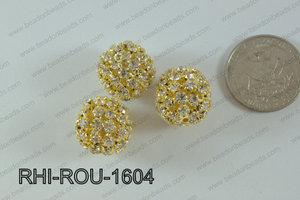 Rhinestone ball Round 16mm gold RHI-ROU-1604