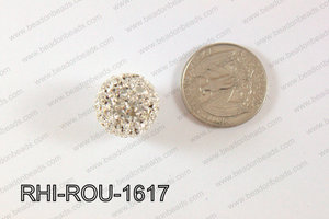Rhinestone Balls Round 16mm Light silver RHI-ROU-1617