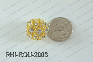Rhinestone ball Round 20mm gold RHI-ROU-2003