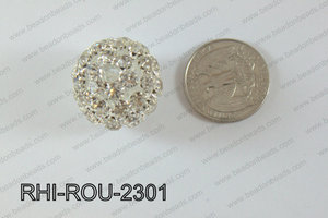 Rhinestone Balls Round 23mm Light silver RHI-ROU-2301