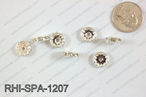 Rhinestone Spacers 12mm RHI-SPA-1207 Silver/clear