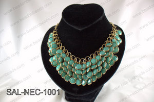 Bezel set acrylic necklace SAL-NEC-1001