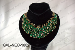 Bezel set acrylic necklace SAL-NEC-1002