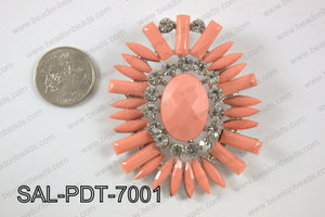 Acrylic and rhinestone pendant SAL-PDT-7001