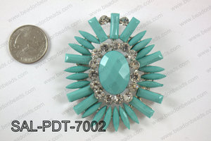 Acrylic and rhinestone pendant SAL-PDT-7002