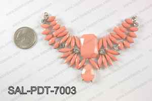 Acrylic and rhinestone pendant SAL-PDT-7003