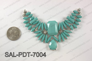 Acrylic and rhinestone pendant SAL-PDT-7004