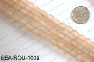 Sea glass beads 10mm SEA-ROU-1002