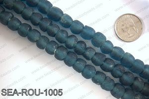 Sea glass beads 10mm SEA-ROU-1005