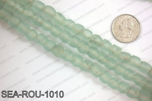 Sea glass beads 10mm SEA-ROU-1010