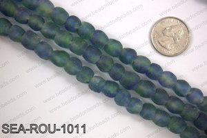 Sea glass beads 10mm SEA-ROU-1011