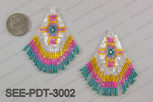 Seed bead pendant 80mm SEE-PDT-3002