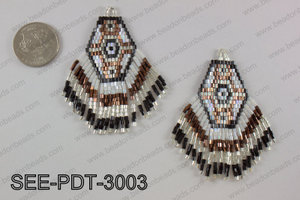Seed bead pendant 80mm SEE-PDT-3003