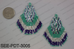 Seed bead pendant 80mm SEE-PDT-3005