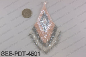 Seed bead pendant 110mm SEE-PDT-4501
