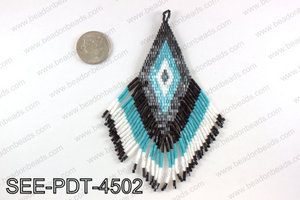 Seed bead pendant 110mm SEE-PDT-4502