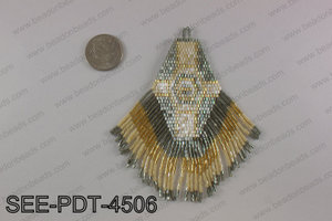 Seed bead pendant 110mm SEE-PDT-4506