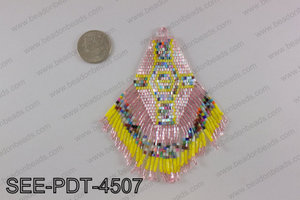 Seed bead pendant 110mm SEE-PDT-4507