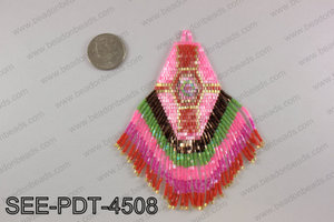 Seed bead pendant 110mm SEE-PDT-4508