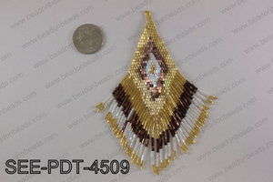 Seed bead pendant 110mm SEE-PDT-4509