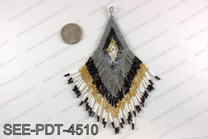 Seed bead pendant 110mm SEE-PDT-4510
