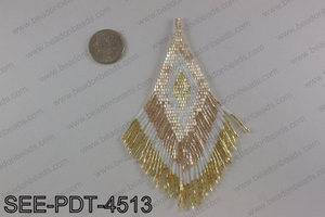 Seed bead pendant 110mm SEE-PDT-4513