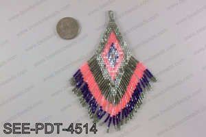 Seed bead pendant 110mm SEE-PDT-4514