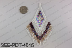 Seed bead pendant 110mm SEE-PDT-4515