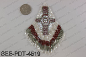 Seed bead pendant 110mm SEE-PDT-4519