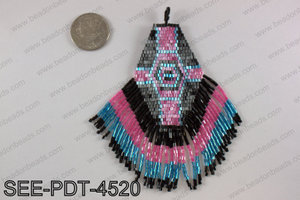 Seed bead pendant 110mm SEE-PDT-4520