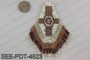 Seed bead pendant 110mm SEE-PDT-4523
