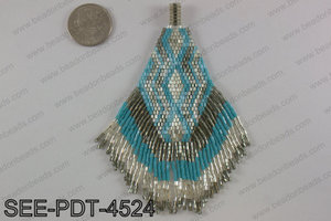 Seed bead pendant 110mm SEE-PDT-4524