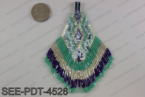 Seed bead pendant 110mm SEE-PDT-4526