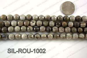 Silver Leaf Jasper round faceted beads 10mm  SIL-ROU-1002