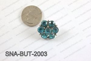 snap button 20 mm light blue flower SNA-BUT-2003