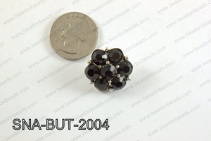 snap button 20 mm black flower SNA-BUT-2004