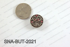 snap button 20 mm hot pink round SNA-BUT-2021